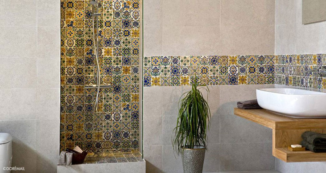 Hand painted tiles : Bathroom tiles